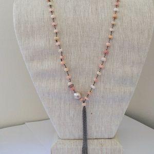 Jewelry - Pink Opal Wrap Necklace